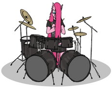 Heavy Metal Pinkie by RaynebowCrash