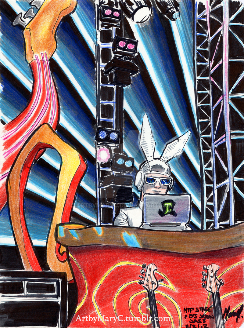 MTP Stage and White Rabbit DJ by ArtbyMaryC