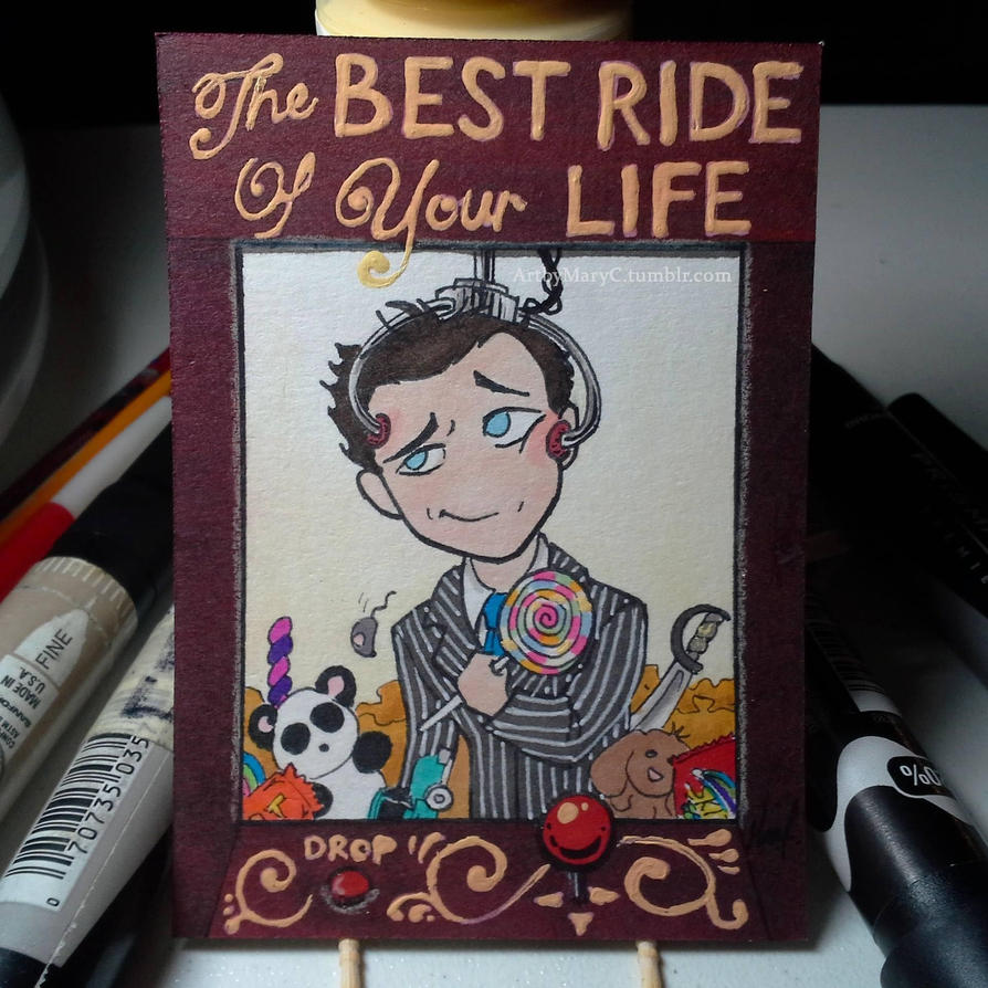 Inktober Day 28 - The Best Ride of Your Life by ArtbyMaryC