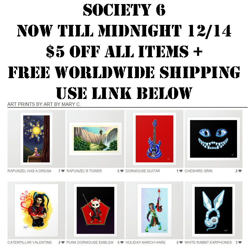 Society 6 Sales Week by ArtbyMaryC