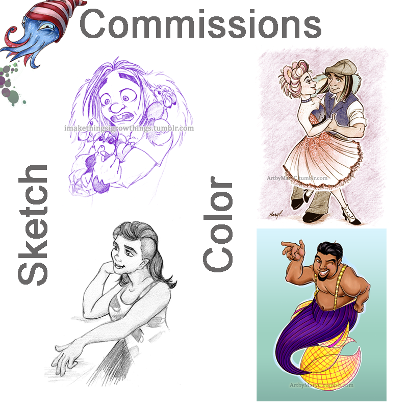 Commissions 2015 by ArtbyMaryC