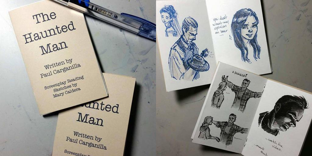 The Haunted Man Mini Sketch Zine by ArtbyMaryC
