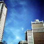 azul con arquitectura