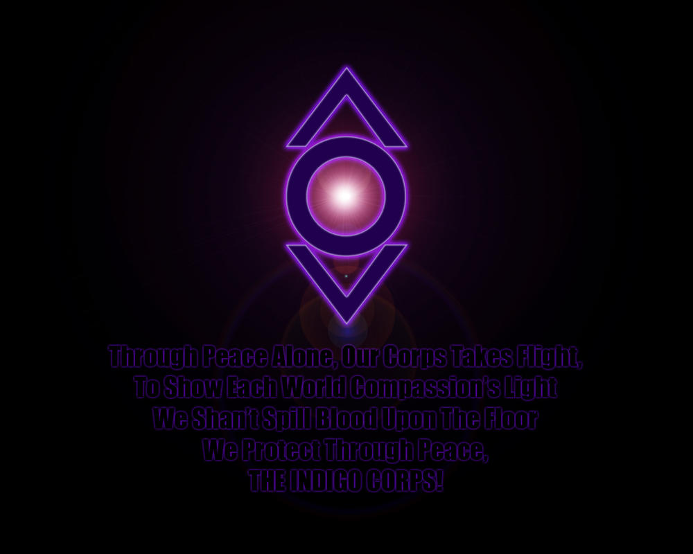 Compassion lantern corps oath the image for The indigo