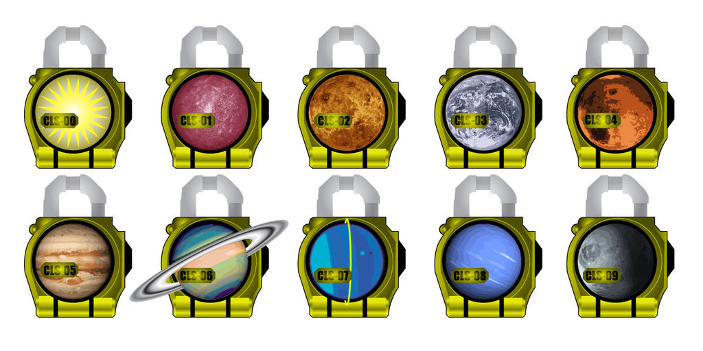 Cosmic lockseeds by Gray-VizardKamen Rider Gaim Lock Seed Papercraft