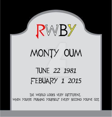RIP Monty Oum by Gray-Vizard