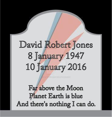 Rip David Bowie by Gray-Vizard
