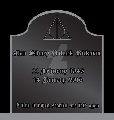 RIP Alan Rickman by Gray-Vizard