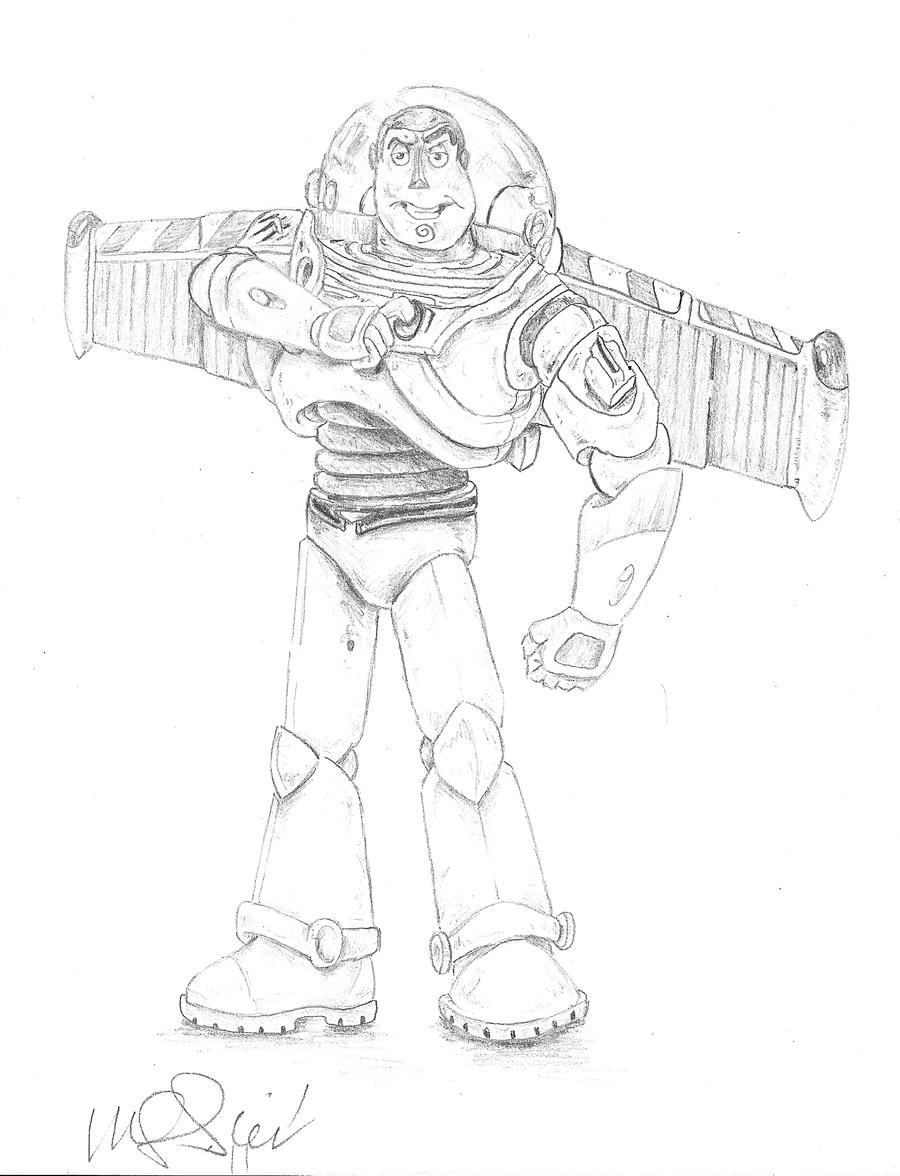 Buzz lightyear flying drawing the image for Flying buzz lightyear coloring page
