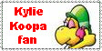 Kylie Koopa fan stamp. by Rock-Raider