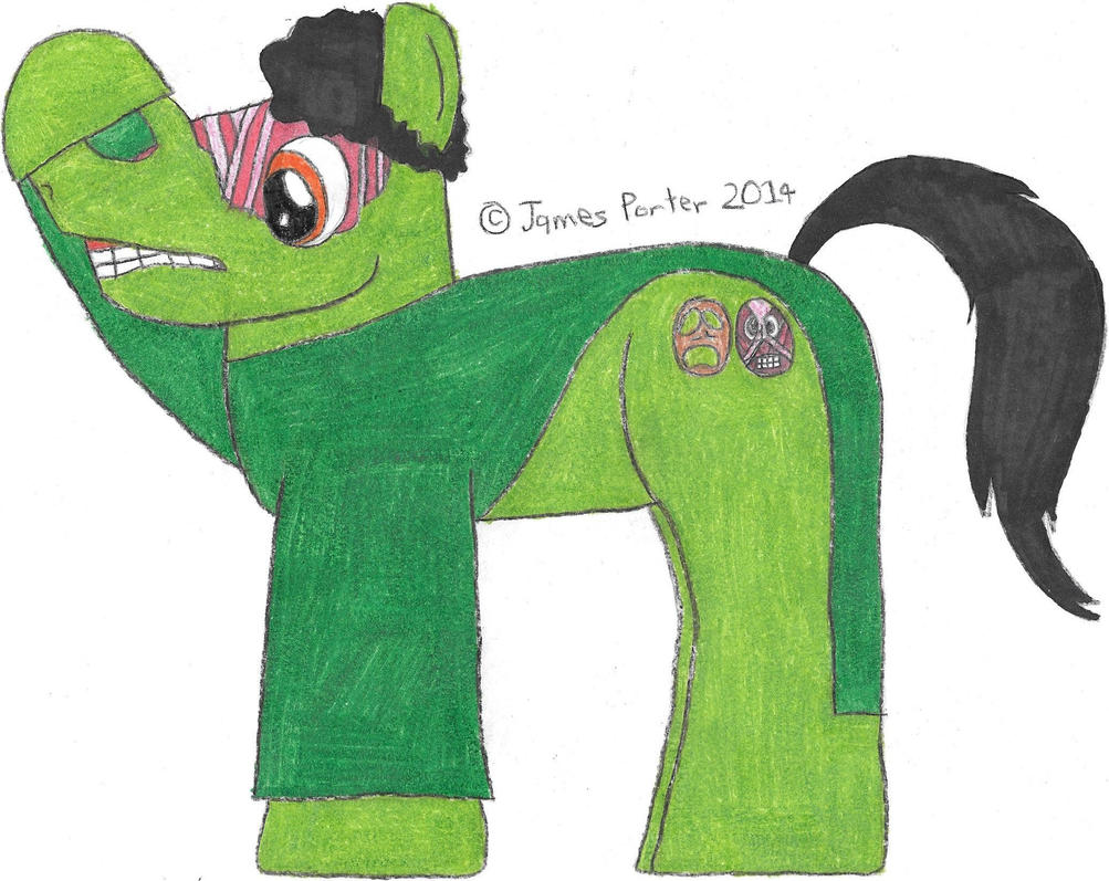 TCITW Face Peeler, Ponified. by Rock-Raider