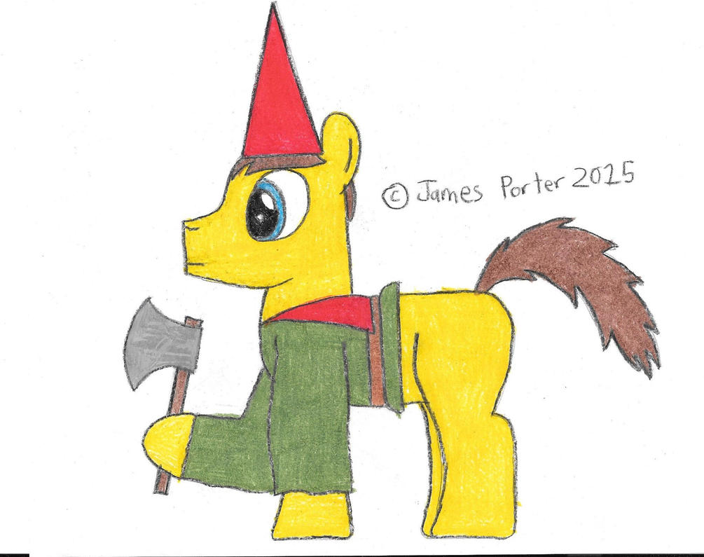 TCITW Garden Gnome Boy, Ponified. by Rock-Raider