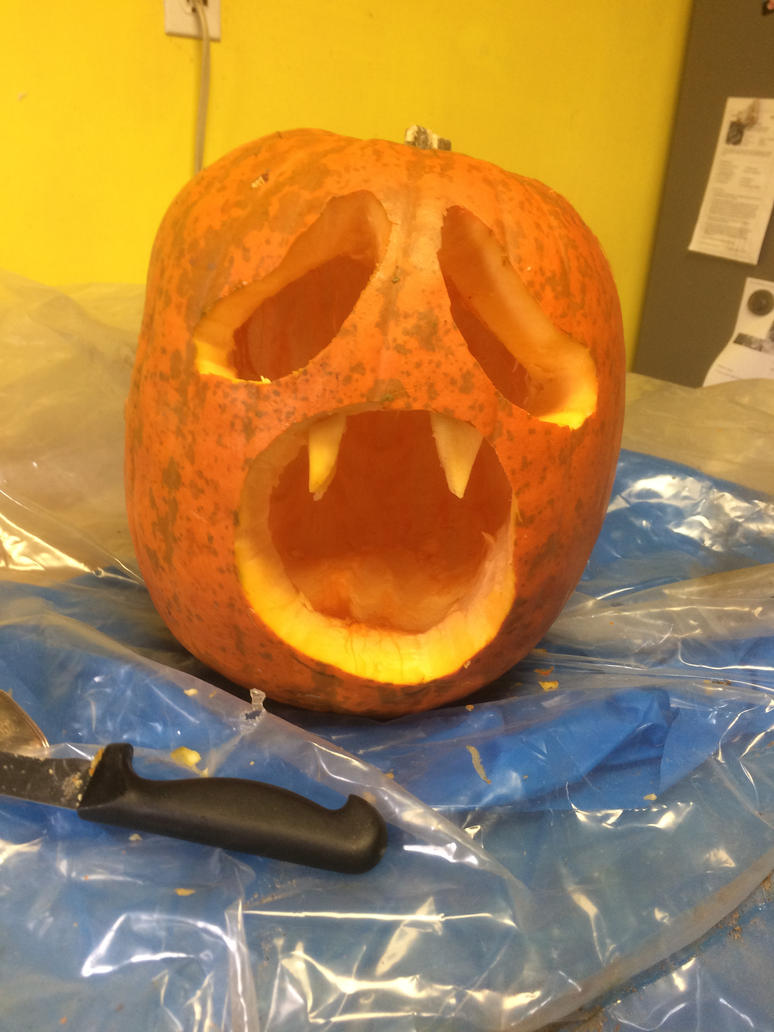 Halloween Jack-O-Lantern version 2. by Rock-Raider