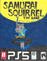 Samurai Squirrel game box art.