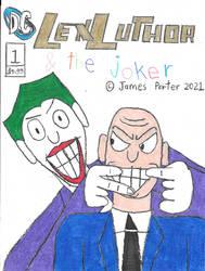 Lex Luthor  The Joker comic cover.