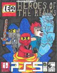 Lego Heroes Of The Realms video game boxart.