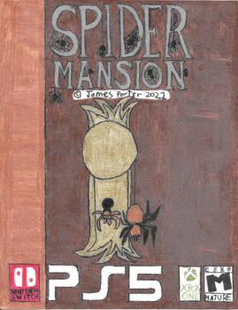 Spider Mansion video game boxart.