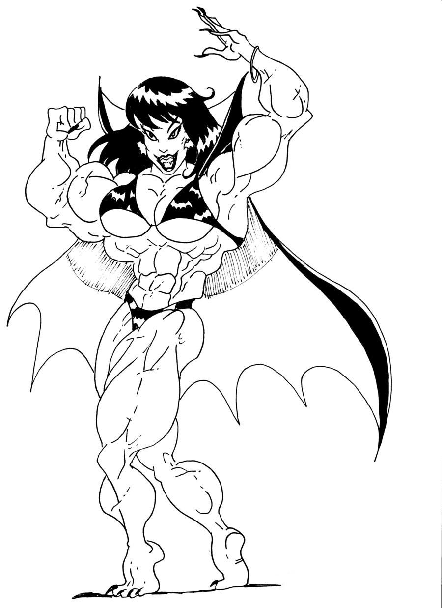 Female vampire muscle naked video