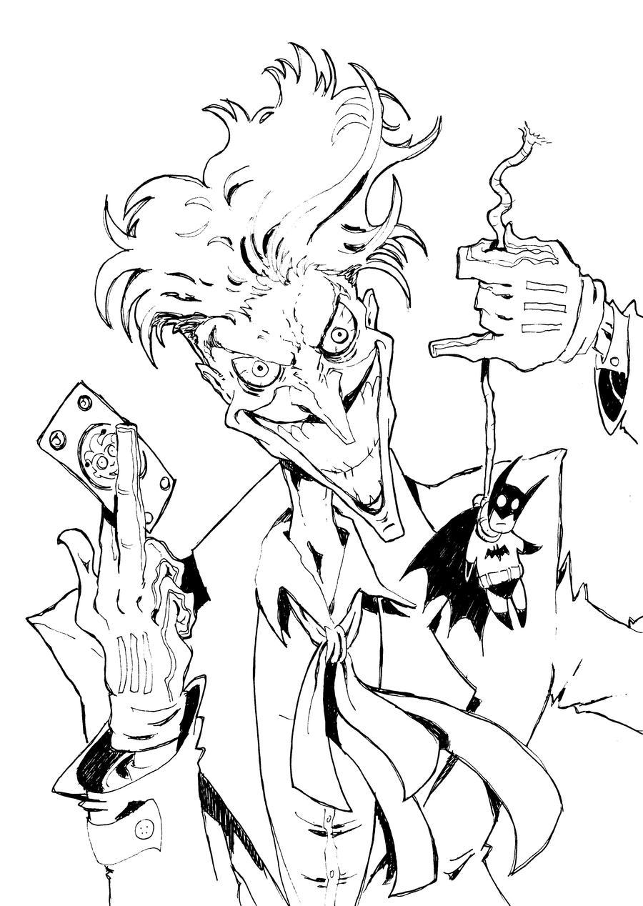 Jokeric Drawing The Joker By Manthomexthe Jokeric Drawing