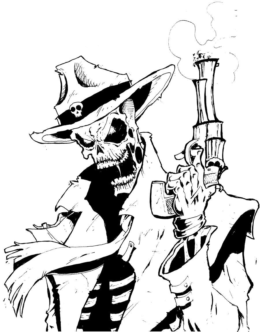 Western ghost rider by manthomex on deviantart - Dessin de ghost rider ...