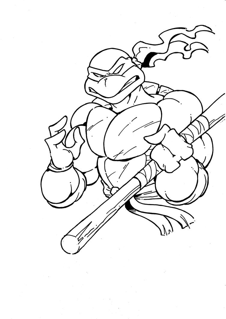 DONATELLO from TMNT - Sketch by Manthomex on DeviantArt
