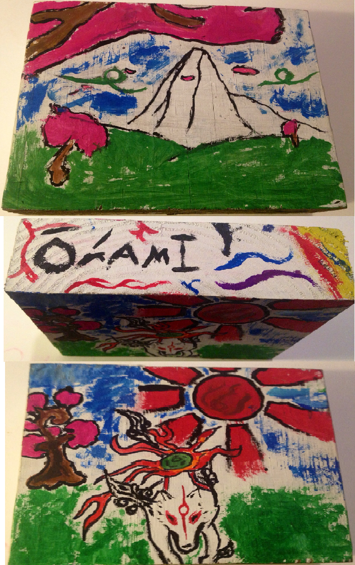 okami wood block by SweetStrokesStudios