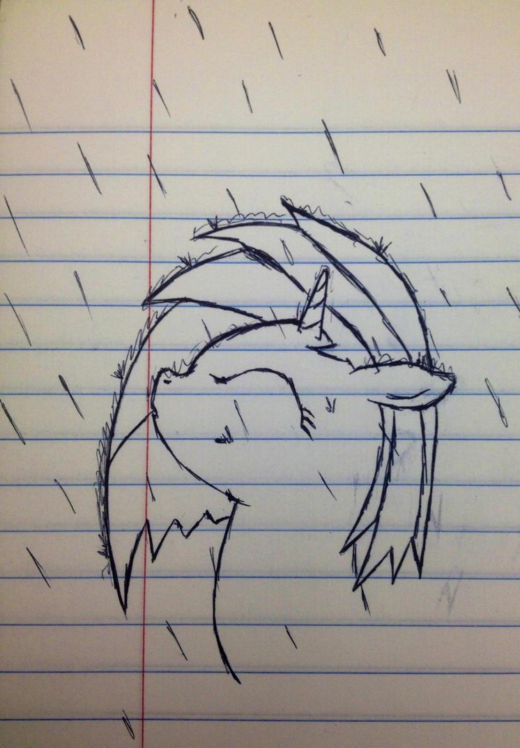 A dj in the rain by SweetStrokesStudios
