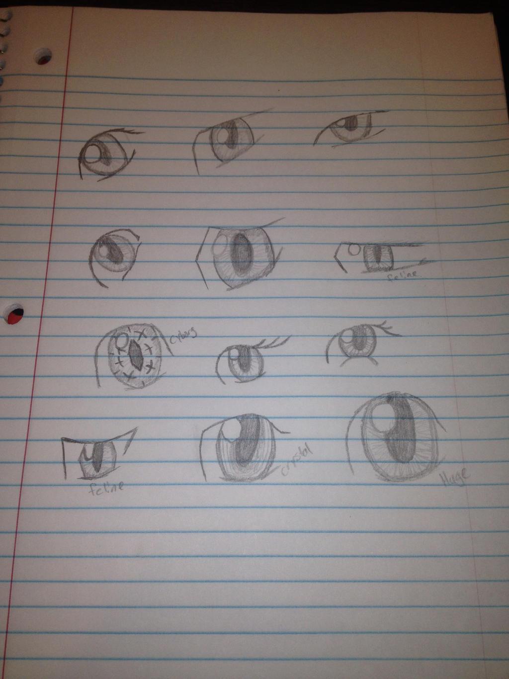 Eyes practice by SweetStrokesStudios