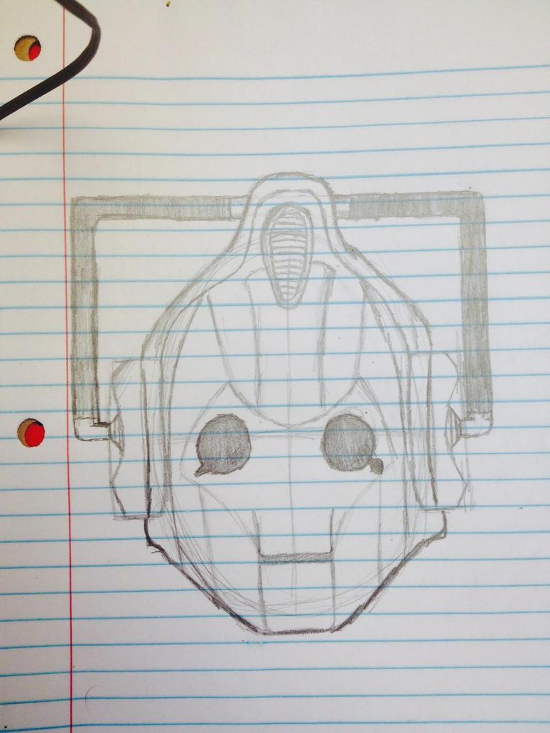 Cyberman head by SweetStrokesStudios