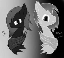 Ebony And Ivory by SweetStrokesStudios