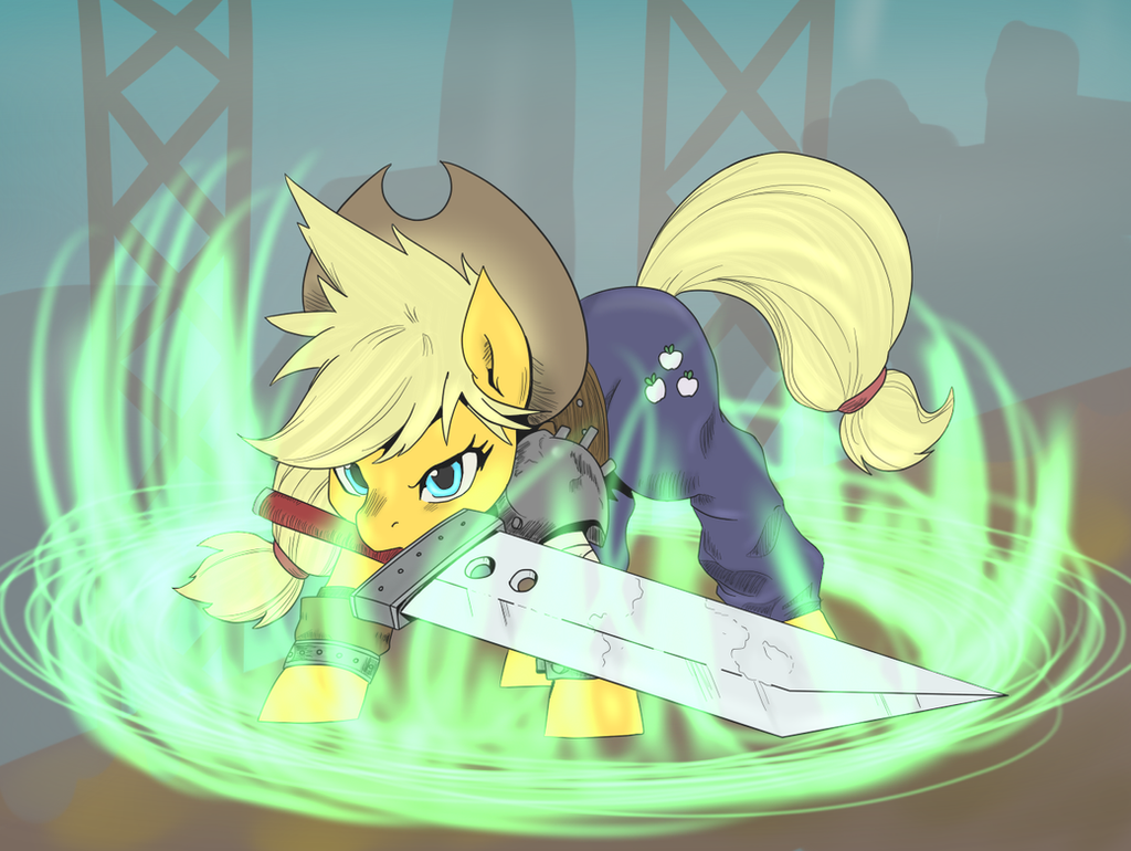 Ff7 Applejack by SweetStrokesStudios