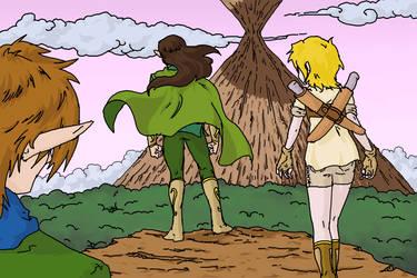 Eldor's Cliff by Chunchuflur-saga