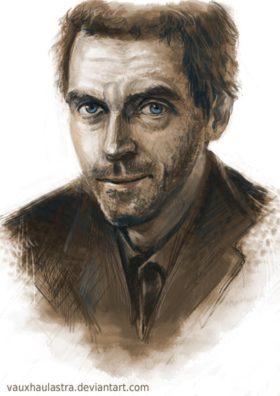 Hugh Laurie - Sepia Portrait by VauxhaulAstra