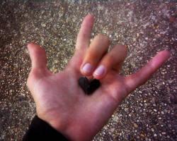 My little black rocker heart by REPLOID