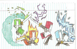 Castle Crashers Group Colored