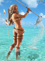 Jungle Girl: Spearfishing! by Zulubean