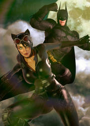 Catwoman and Batman by Zulubean