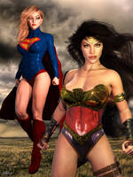 Wonder Woman and Supergirl by Zulubean