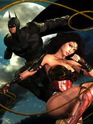 \\ Wonder Woman and Batman // by Zulubean