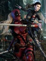 Lady Deadpool / X-23 by Zulubean