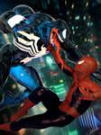 Spider-Man vs Venom by Zulubean