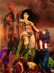 Wonder Woman vs The Avengers by Zulubean