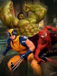 Hulk / Wolverine / Spider-Man by Zulubean
