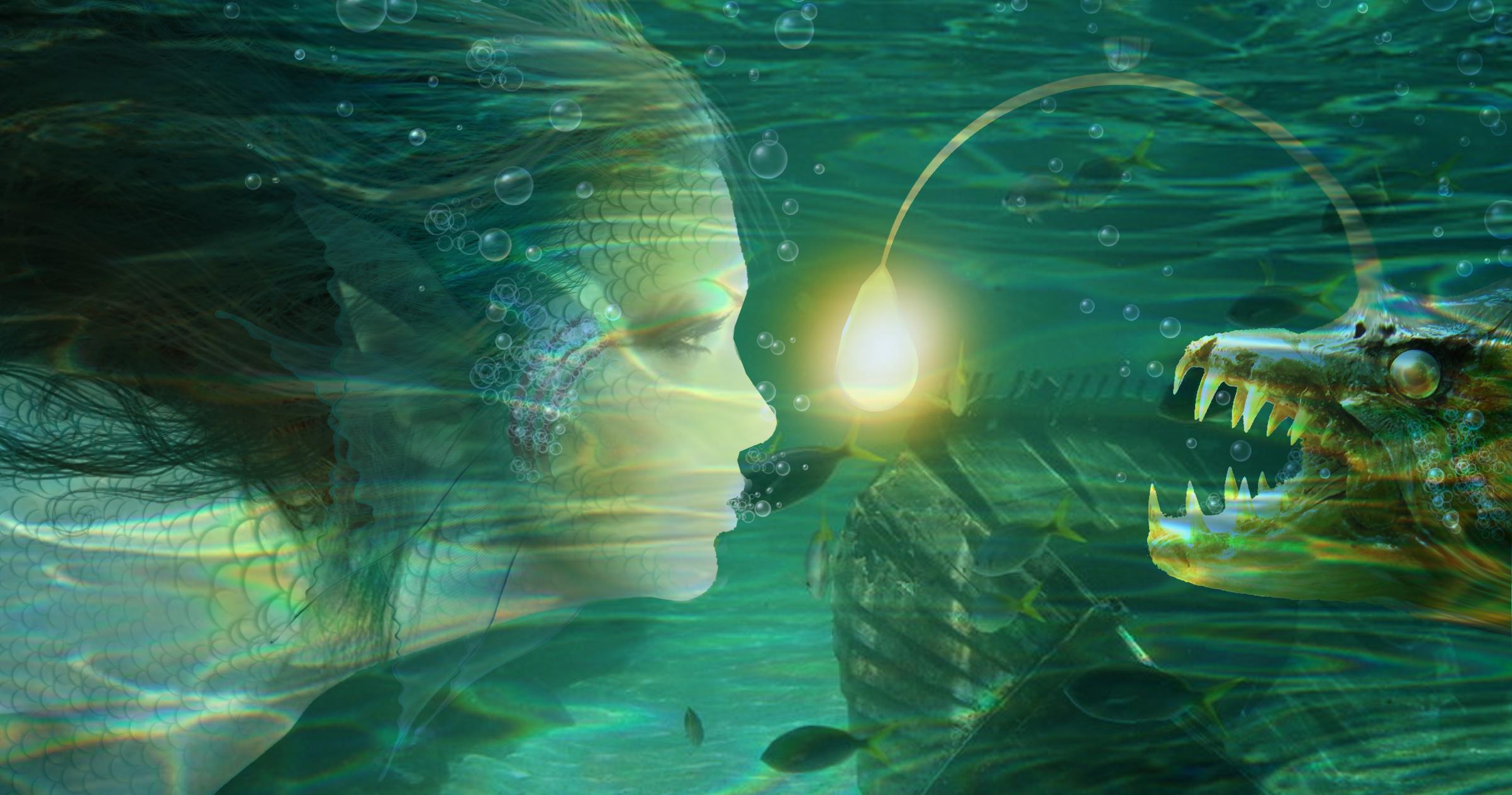 Undersea Encounter by SybilThorn