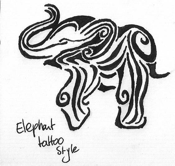 Elephant Drawing Tattoo Tattoo Elephant by Bubblefox