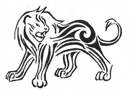 Tattoo design Lion by Bubblefox