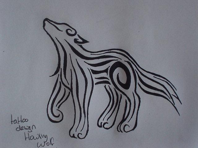 9fd87ac59 Tattoo design Howling wolf by Bubblefox on DeviantArt