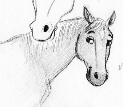 Quick horse sketch by SarahEsen