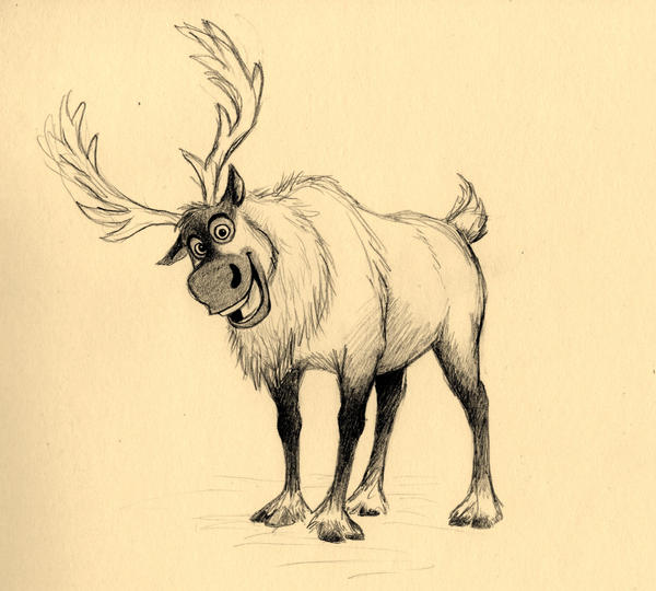 disney frozen sven drawing - photo #25