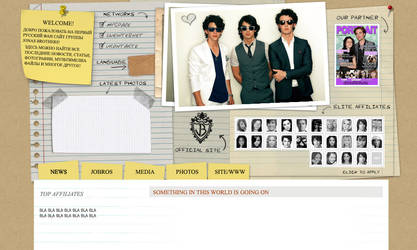 Jonas brothers wordpress layout by ooliyah